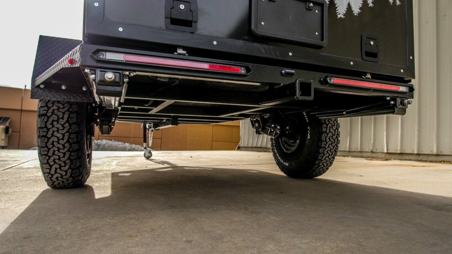 A look at the steel frame and Timbren suspension