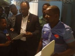"""According to Brian Integrated System, a Nigerian maker of computers at CVE '15, """"we brought down prices of some of our products to encourage Nigerians and attendees of the event to own a PC or desktop."""""""