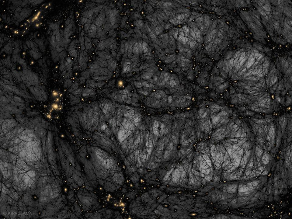 Dark matter is believed to be responsible for the large-scale structure of the universe we see today