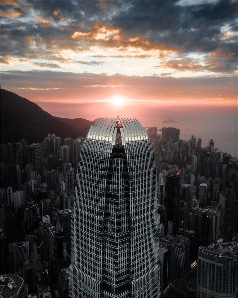 'The Eye of Sarumon'. IFC Building, Hong Kong