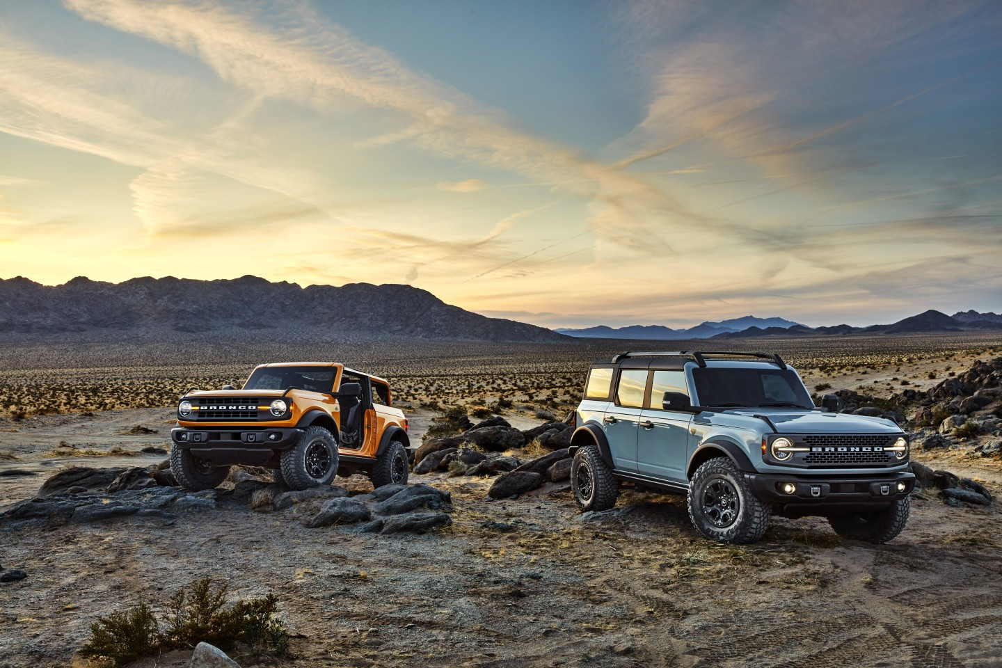 2021 Ford Bronco in two- and four-door flavors