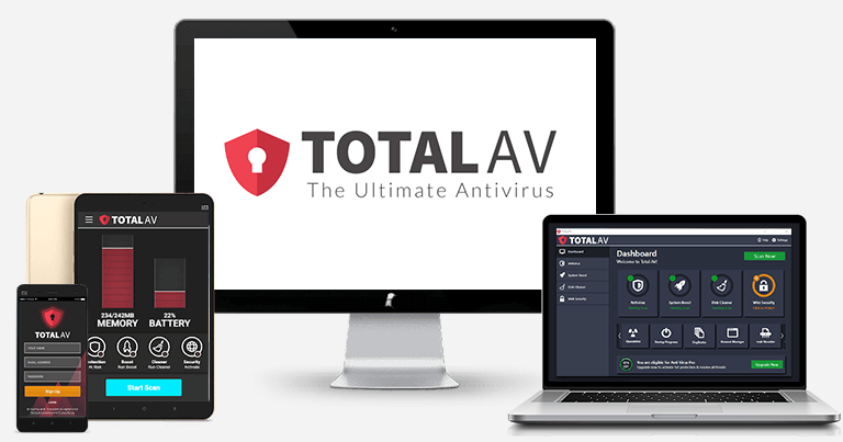 🥈2. TotalAV— Best Spyware Protection with Device Optimization