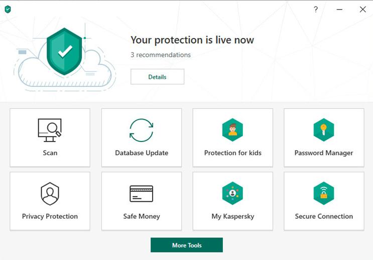 Kaspersky Security Cloud (Free) — najlepszy za dodatkowe funkcje