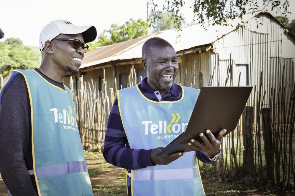 Telkom staff connect to the Project Loon network for the first time