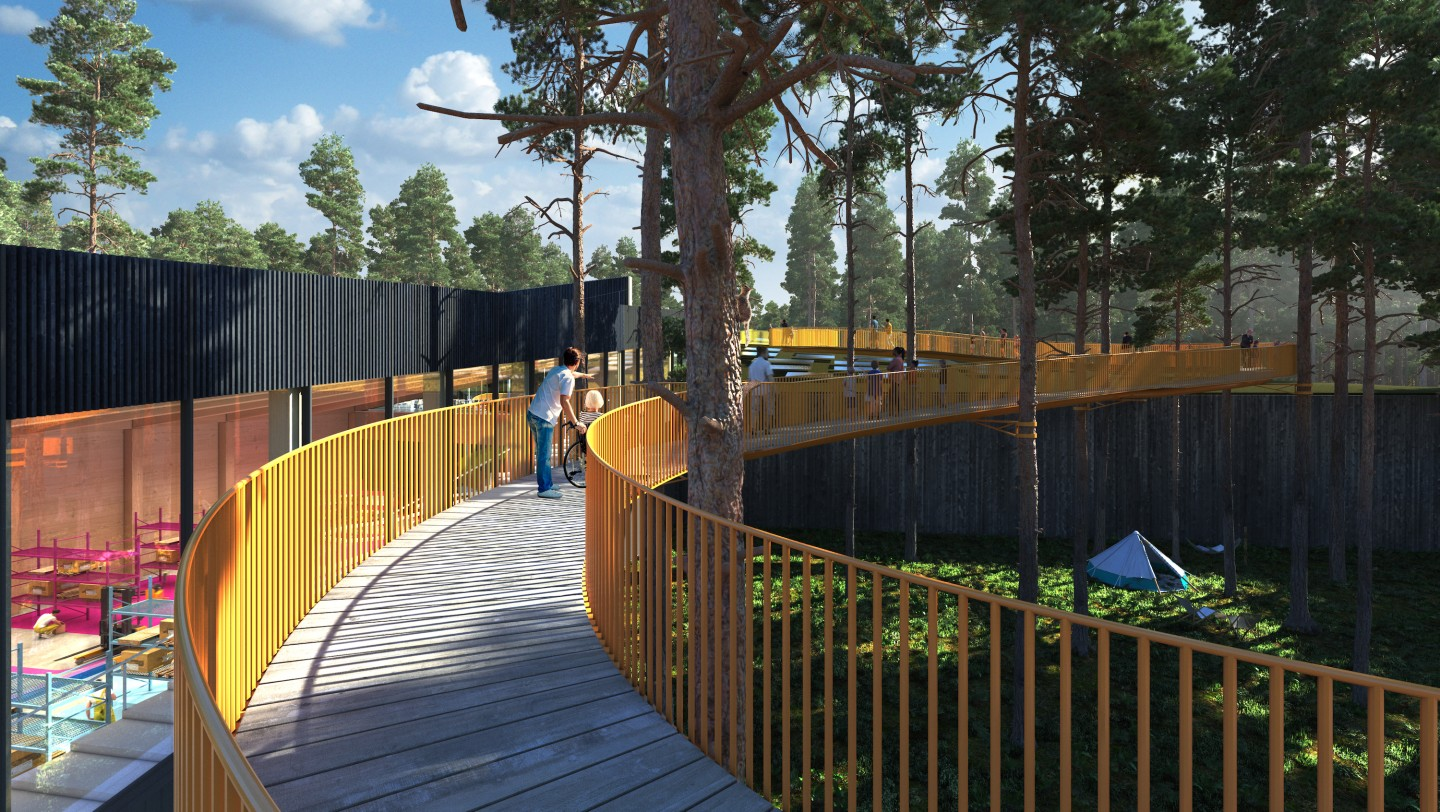 The Plus will double as a hiking and camping destination and will include children's pathways and ramps for disabled access