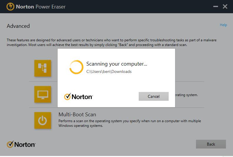 Norton Power Eraser — Beste downloadbare virusscanner en virusverwijderaar (gratis online download)