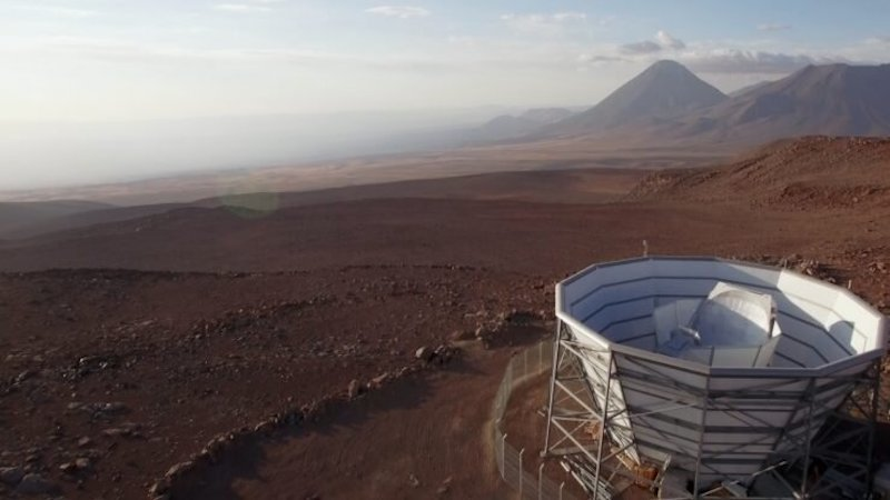 The Atacama Cosmology Telescope (ACT) in Chile, which made measurements in a new study to determine the age of the universe