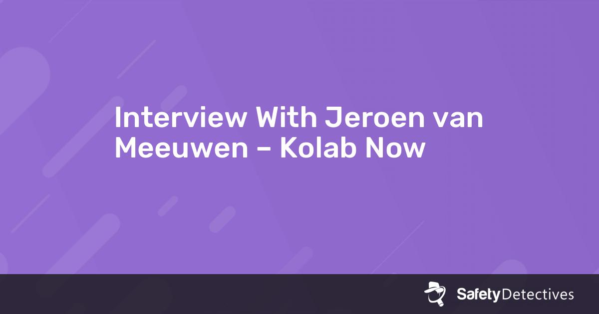 Interview With Jeroen van Meeuwen – Kolab Now