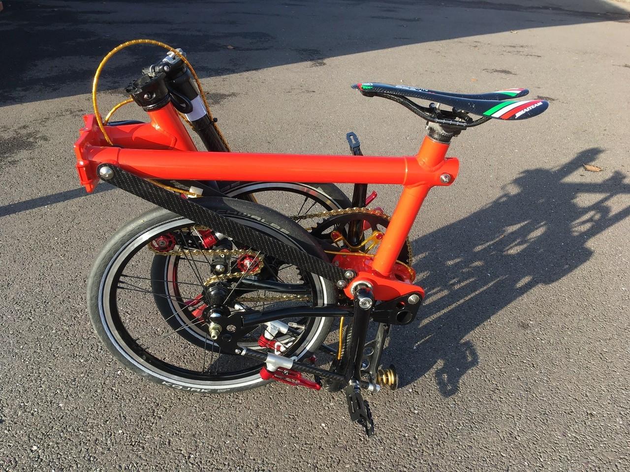Derek Cranage's bike, all folded up