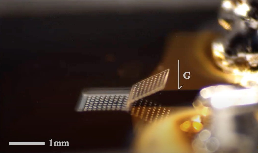 An example of the new folding microbots developed at the University of Michigan