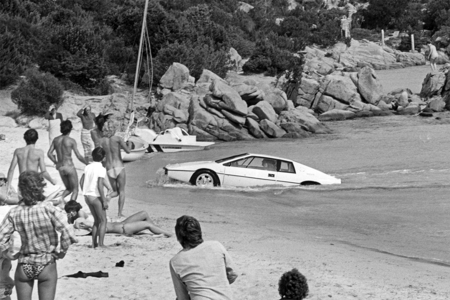 The Lotus Esprit submarine car became almost as famous as the original gadget-festooned James Bond Aston Martin DB5. The fully-functioning custom submarine in the shape of a Lotus Esprit S1 sports car was built just for the movie and created a sensation on the silver screen when it was used by MI6 Agent 007 (Roger Moore) to escape the villains in the 1977 movie The Spy Who Loved Me. The submarine was sold at auction by RM-Sotheby's in London in 2013 for £616,000 with the mystery buyer eventually confirmed as Tesla boss Elon Musk.