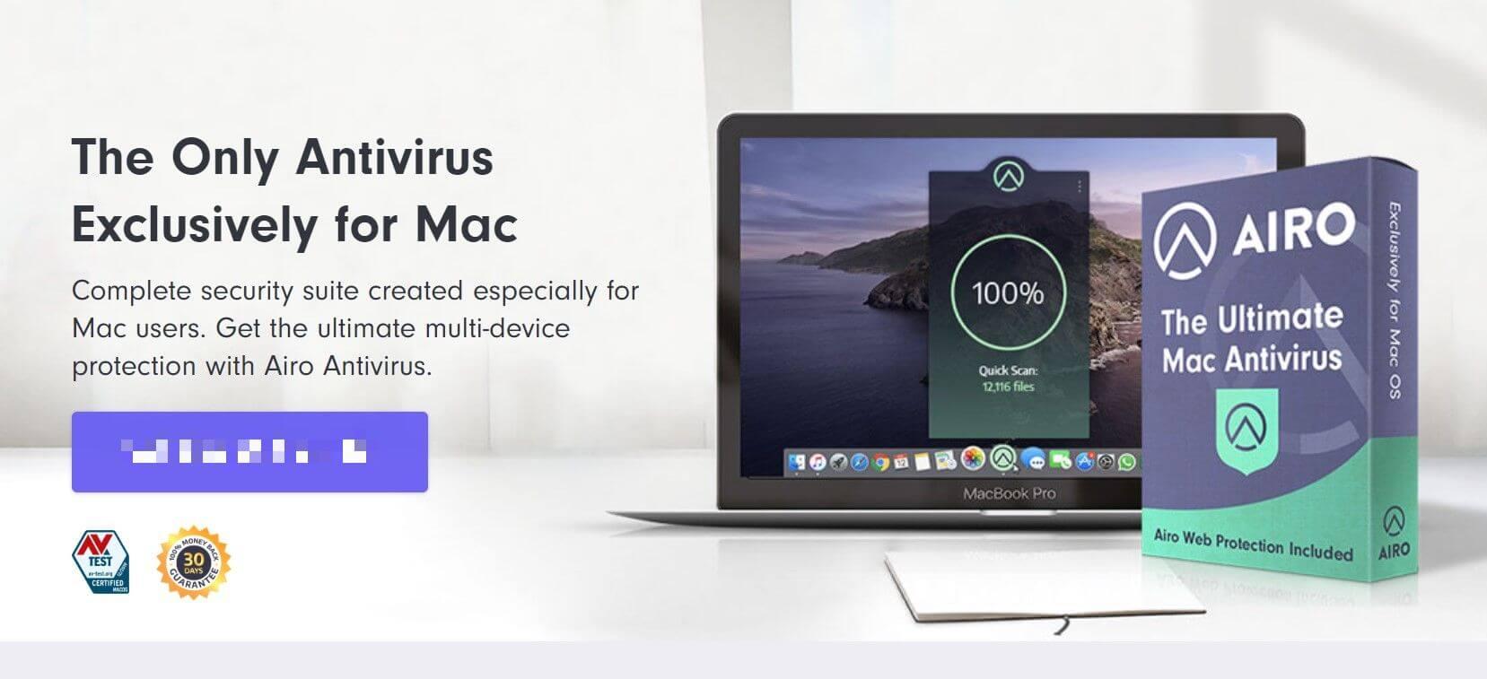 🥈2. Airo AV— Best Lightweight Mac Antivirus Software