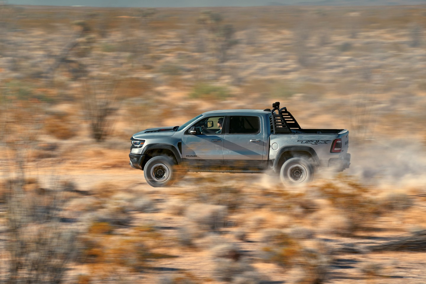 The 2021 Ram 1500 TRX has been designed to sprint over 100 mph through the desert