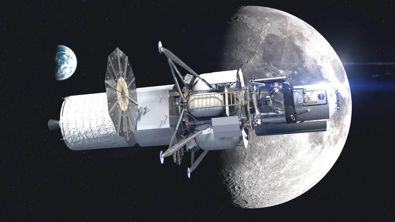 The complete HLS lunar lander with the Transfer Element