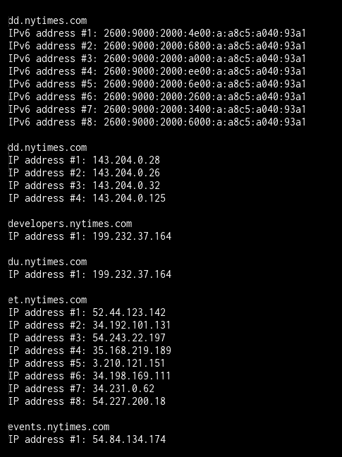 37 subdomains and 74 IP addresses were found