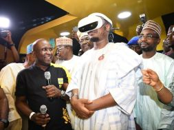 Photo file shows Dr. Isa Ali Ibrahim, Minister of Communications and Digital Economy inspecting a Virtual Reality setup that uses 5G speeds during the pilot operation of 5G network in Nigeria by MTN Nigeria