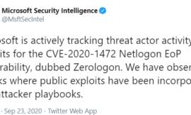 Microsoft: Attackers Exploiting 'ZeroLogon' Windows Flaw