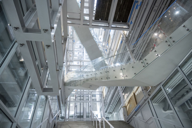 Visitors enter Depot Boijmans Van Beuningen into a large atrium that will display artwork