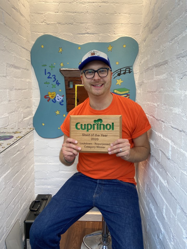 In a competition first, a Shed of the Year Special Commendation went to teacher Ashley Bates, who used his shed to educate children while COVID-19-related lockdown closed classrooms with his Shed School. He was also declared the winner of the Lockdown - Repurposed category