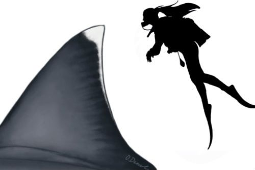The Megalodon's dorsal fin was 1.62 m (5.31 ft) tall, meaning it's almost the same size as a human
