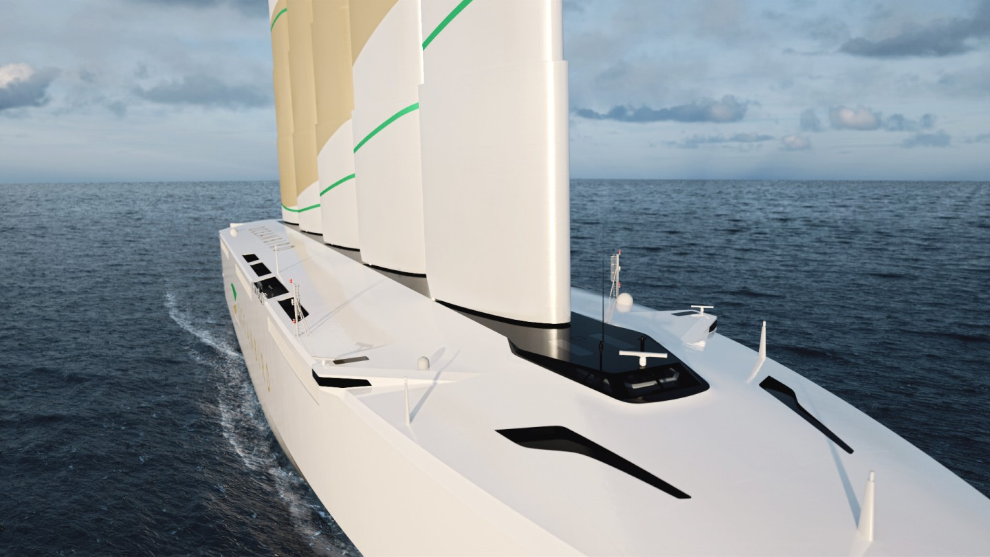 On launch in 2024, the Oceanbird is expected to be the world's biggest sailing ship, capable of carrying up to 7,000 cars