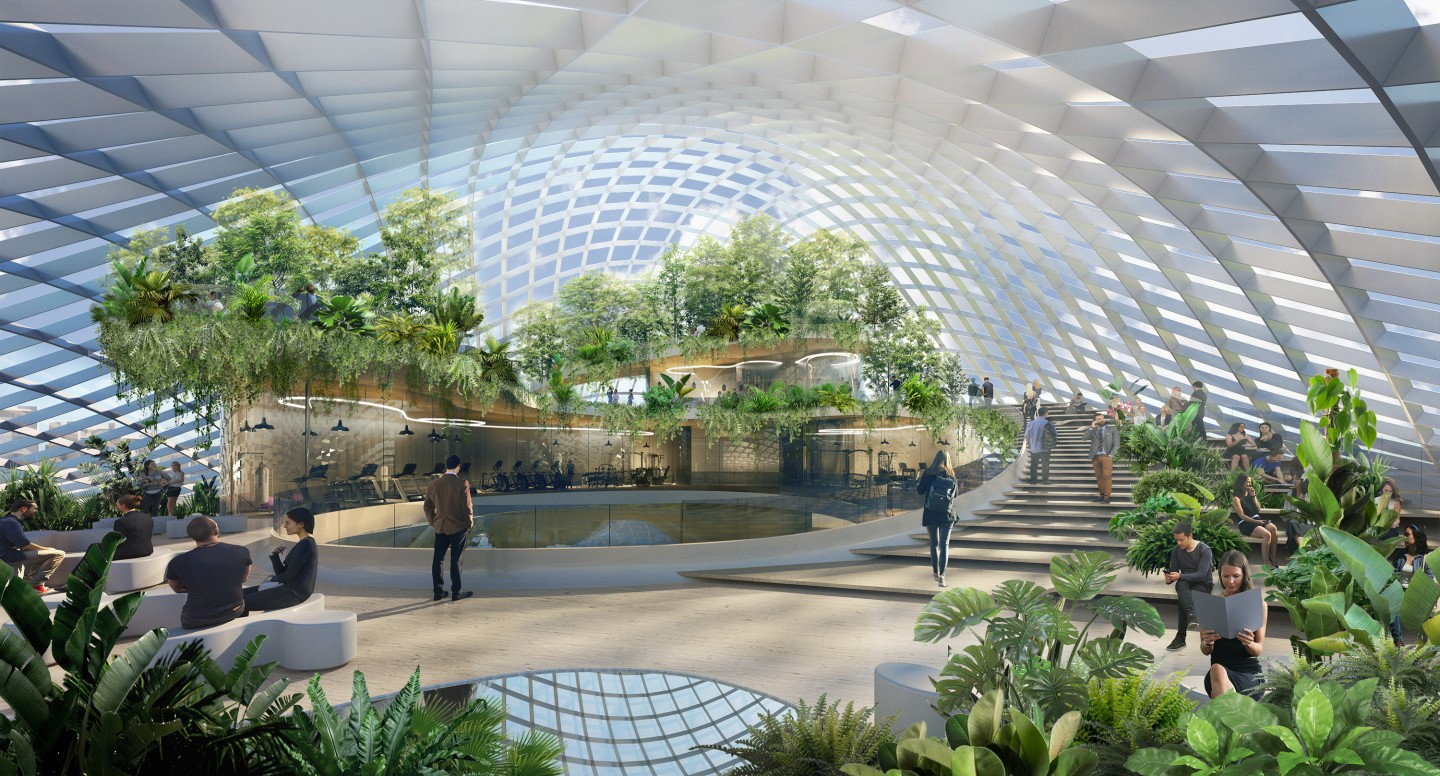 """Shenzhen Wave's """"Club Node"""" will include significant greenery to offer a pleasant environment for workers"""