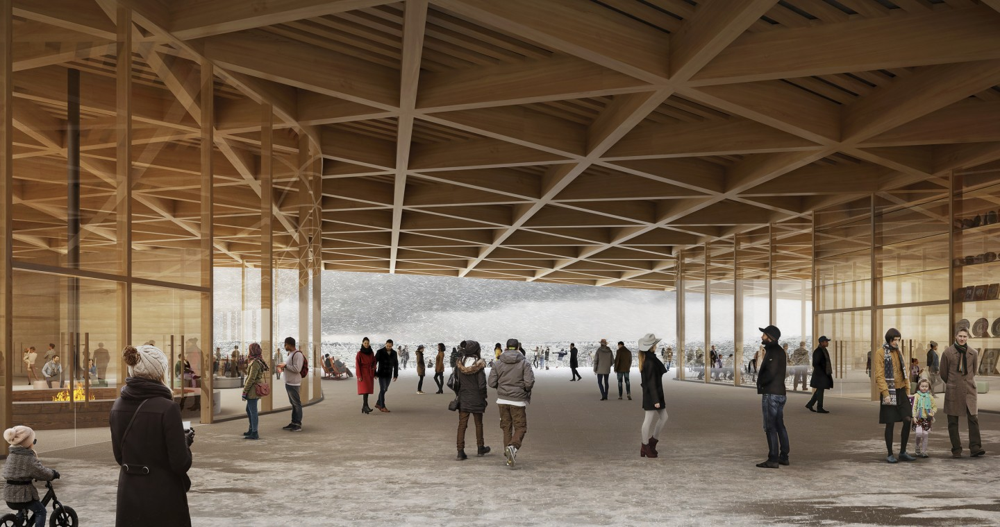 The Theodore Roosevelt Presidential Library will make use of locally-sourced and sustainable building materials, including timber, which will be used for the roof