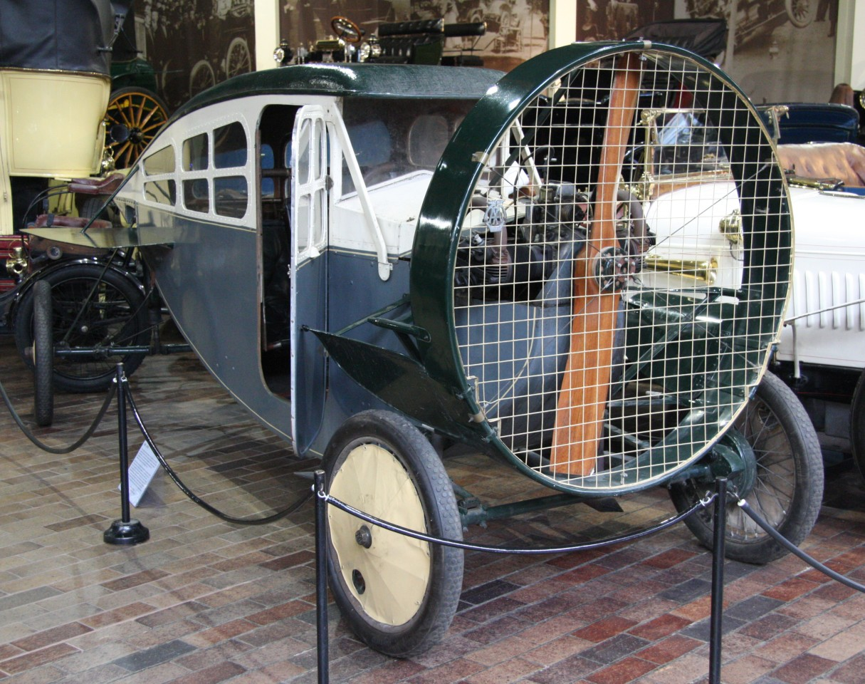 A 1922 Leyat Helica in an automotive useum