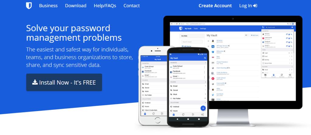 Bitwarden– open-source řešení sneomezeným počtem hesel
