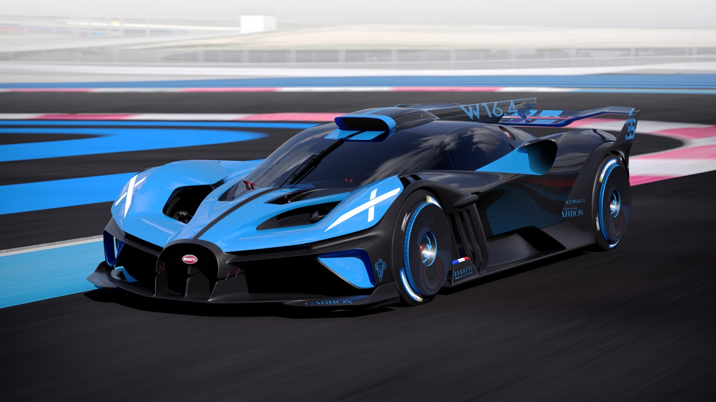 The Bugatti Bolide is designed to exceed speeds of 500 km/h