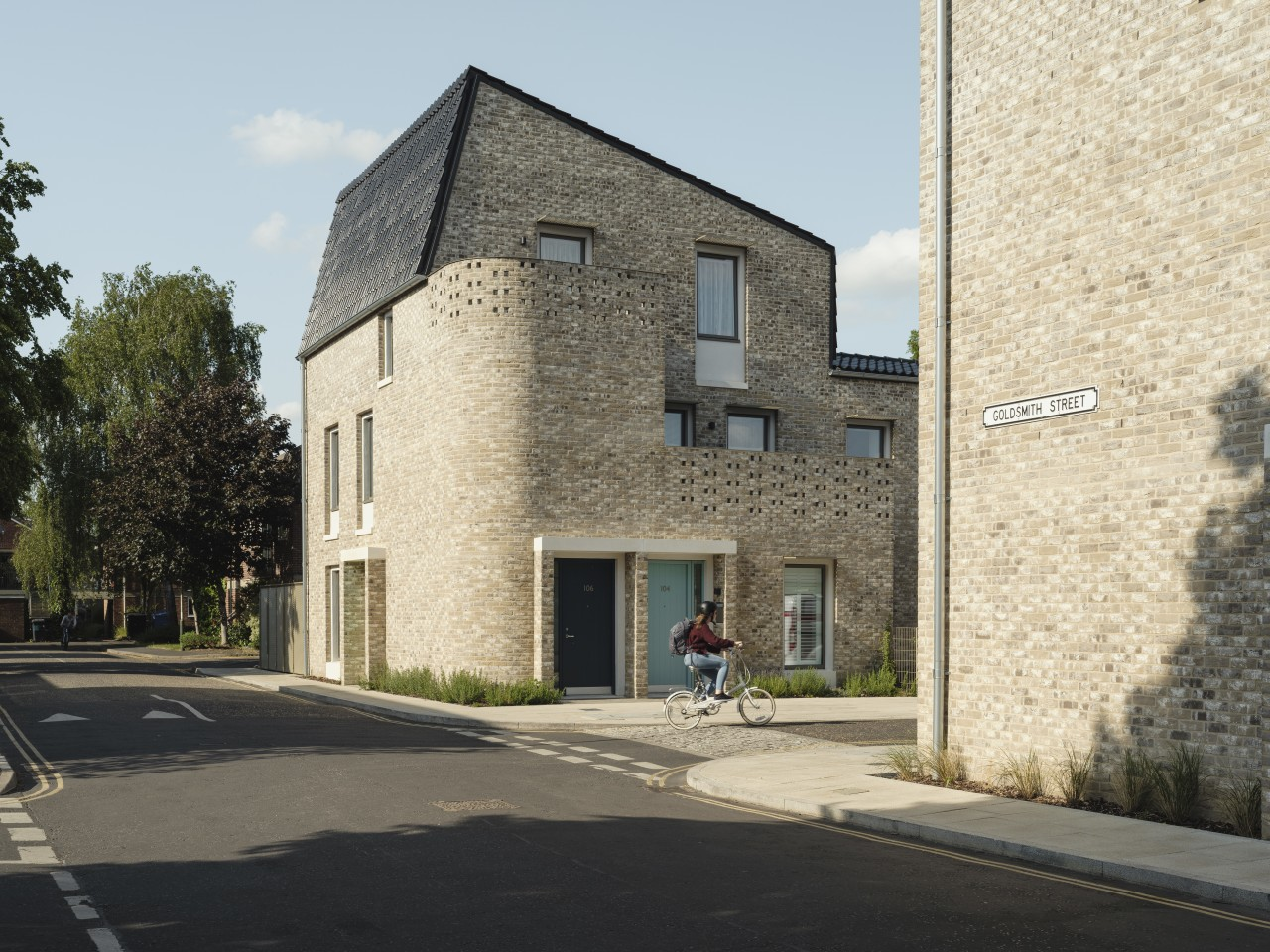 Goldsmith Street, by Mikhail Riches with Cathy Hawley, is shortlisted in the Architecture category. The project is an excellent example of affordable social housing that's energy efficient and green