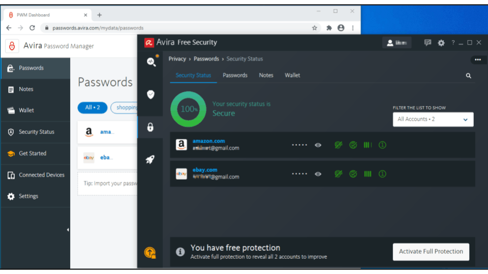 🥈2. Avira Prime — Best for Password & Online Account Security Monitoring