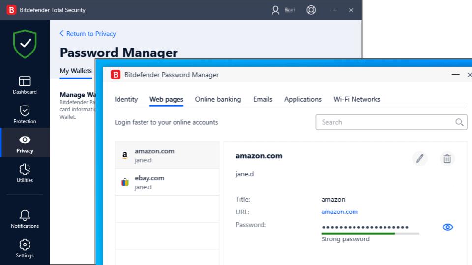 Bitdefender Total Security — Best Entry-Level Password Manager & Folder Organization Options