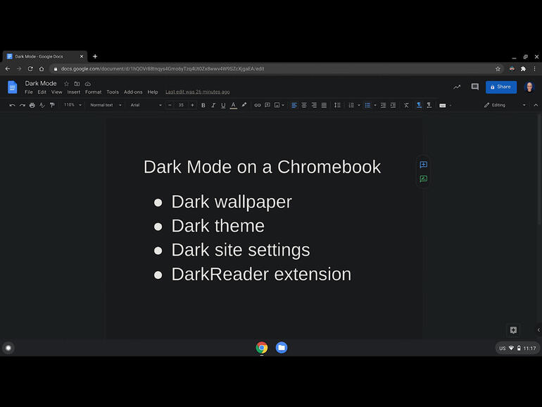 How to achieve (mostly) dark mode on a Chromebook: 4 tips
