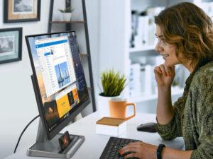 """CES 2021: Lenovo unveils a versatile desktop, monitors, a """"pocket-sized"""" PC, and more"""