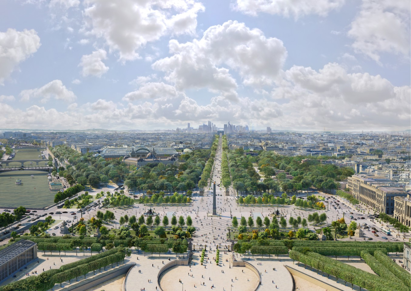 According to PCA-Stream, only 5 percent of visitors to the Champs-Élysées are actually Parisians, with the rest tourists. The firm hopes to attract locals back with its new scheme