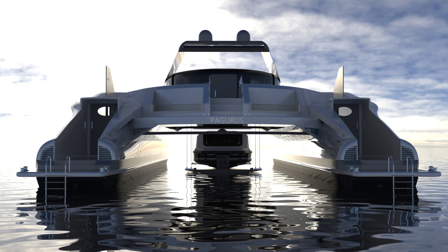 The steel bridge is implemented to strengthen and reinforce the main body of the vessel