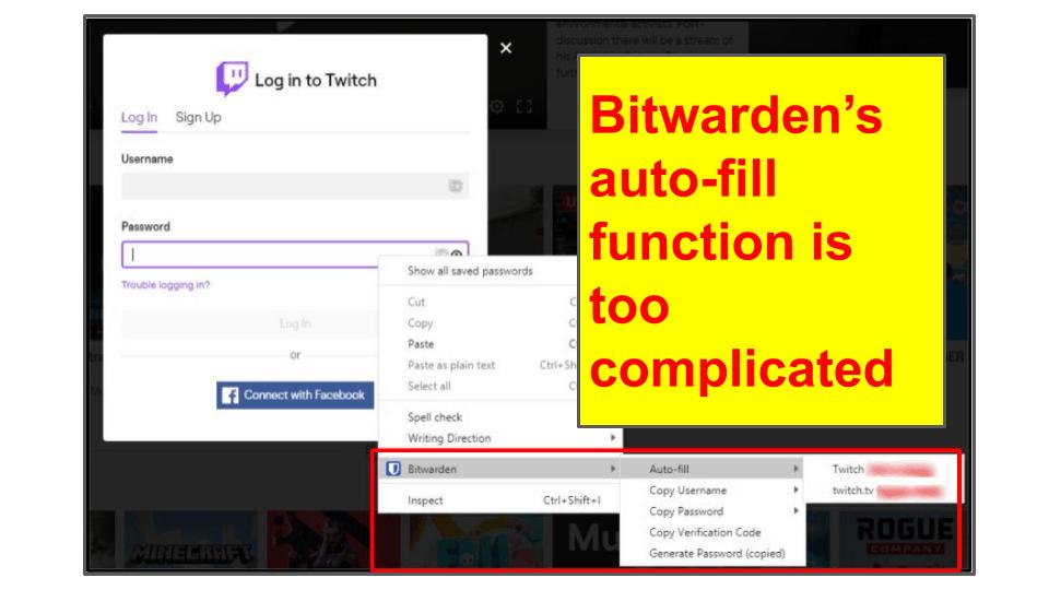 LastPass vs. Bitwarden: Basic Features