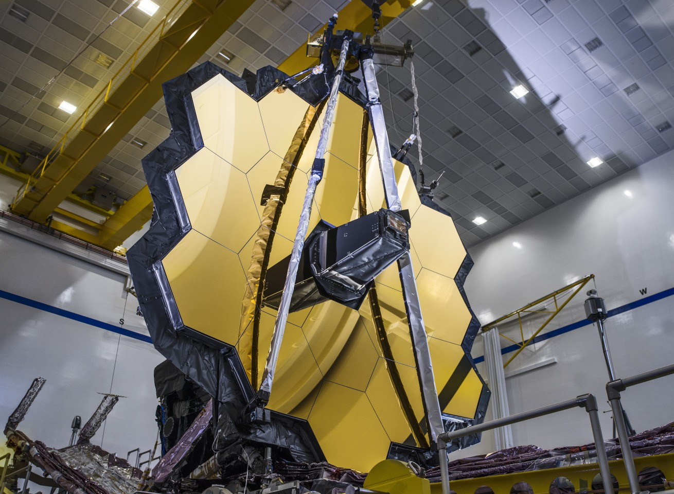 NASA unfurls the mirrors of the James Webb Space Telescope in a deployment test