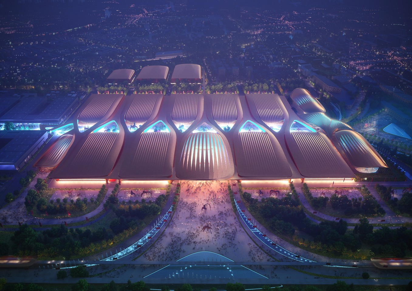 Phase II of the International Exhibition Centre in Beijing will measure 438,500 sq m (roughly 4.7 million sq ft)