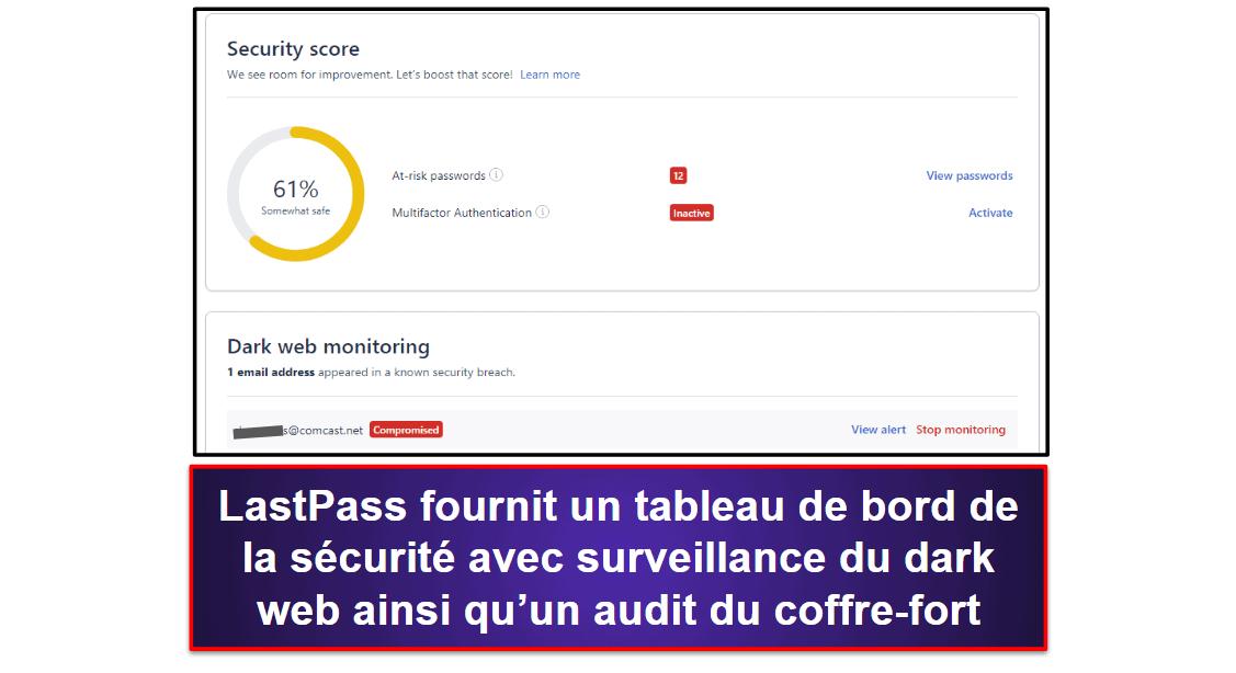 1Password vs LastPass: fonctionnalités supplémentaires