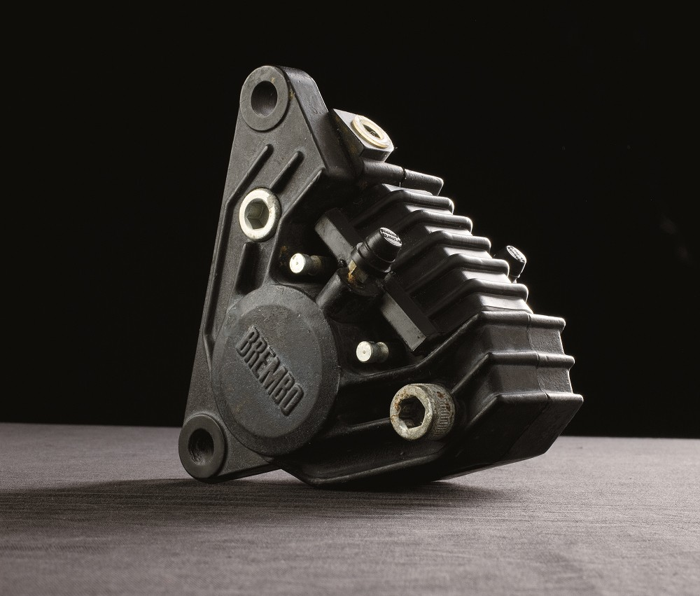 Inspiration for the New G Sessanta Concept came from Brembo's first motorcycle product, this 1972 aluminum two-piston caliper