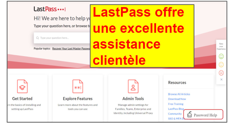 Comparatif LastPass/Bitwarden : Assistance clientèle