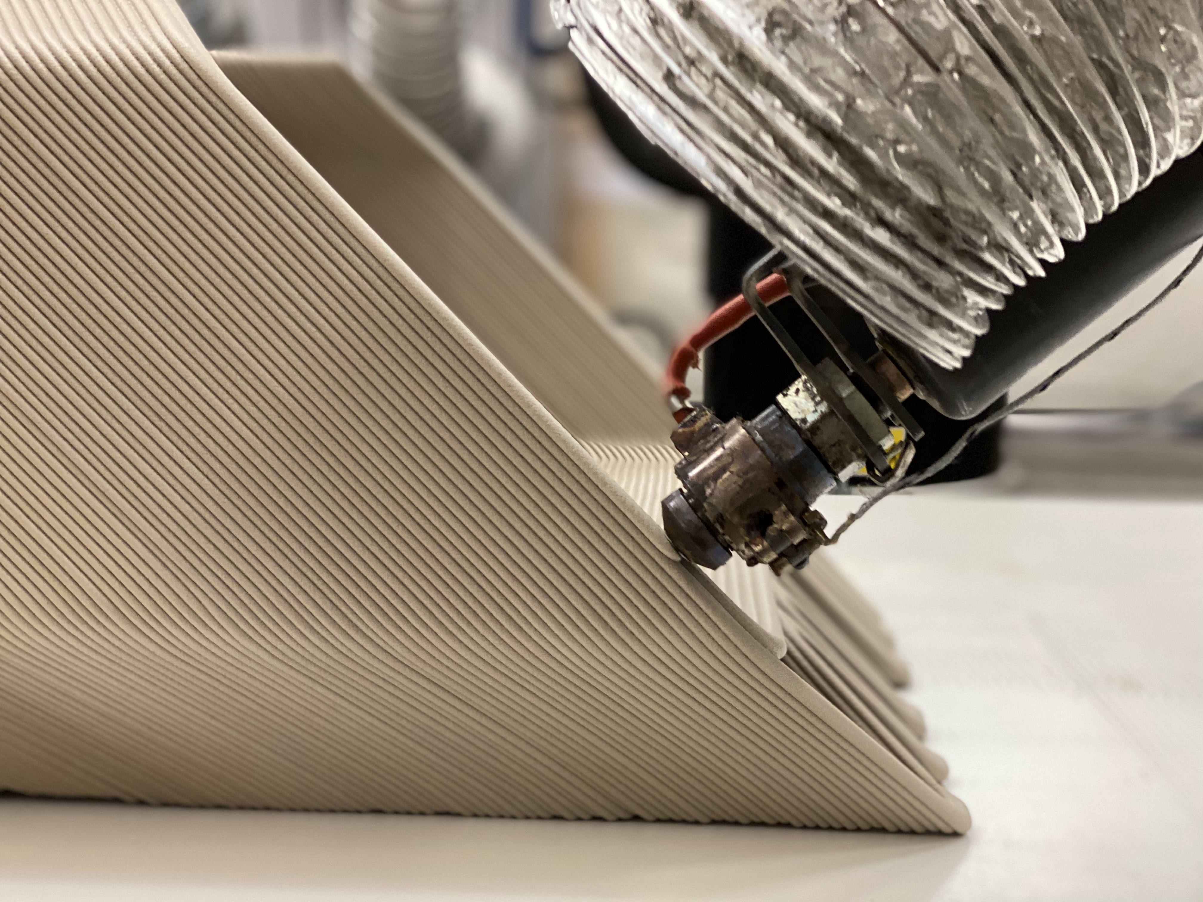 The ZUV's body was 3D printed at an angle to reduce the need for structural supports