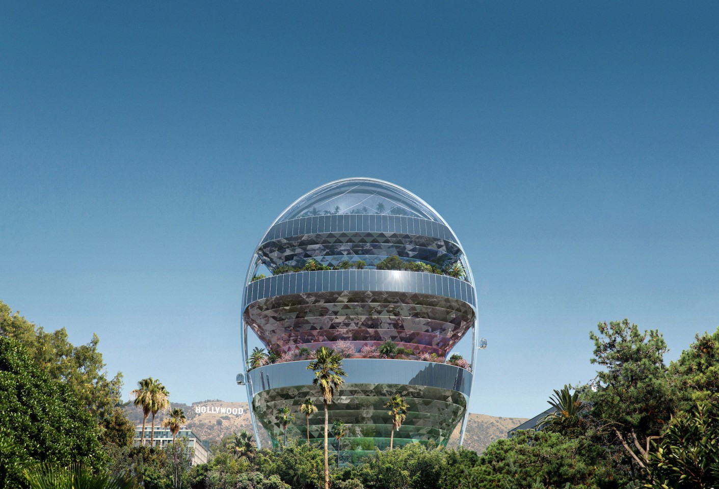 The Star's overall form is inspired by the Hollywood Hills